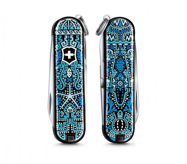 """Victorinox CLASSIC LIMITED EDITION 2021, """"PATTERNS OF THE WORLD"""" Ocean Life"""