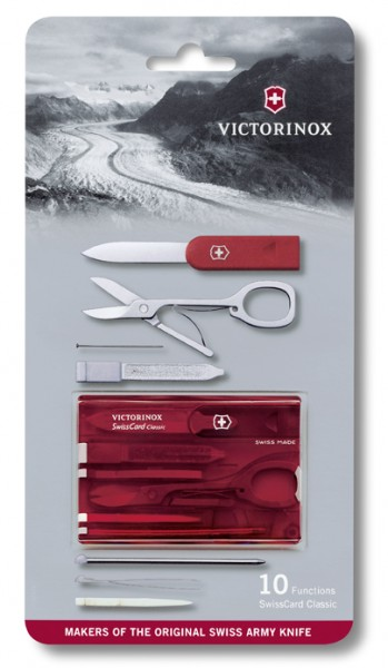 SwissCard Classic, rot transparent in Blister